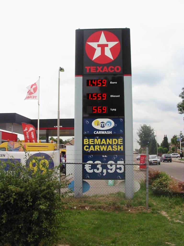 Prijzenborden – Texaco LED Prijzenbord
